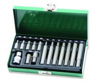 Набор вставок (бит) шестигранных (30 и 75 мм) 4-12 мм, 15 предметов