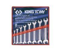 Набор ключей рожковых KING TONY 8шт. (6-22 мм) 1108MR