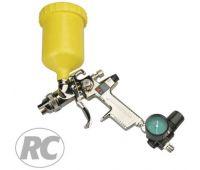 Краскопульт RODCRAFT HVLP дюза 1,3 мм., верхний бачок 0,6 л, 300 л/мин МАХ 8106