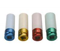 Набор ударных головок 1/2'' в пластике 4 шт размеры 17, 19, 21, 22 мм 842007