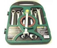 Набор ключей трещоточных, 72 зубца, 10-19мм, 7 предметов