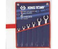 Набор ключей рожковых KING TONY силовых 6 предметов дюймовые 1306SR