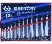 Набор ключей накидных KING TONY 12 предметов 6х32мм в составе ключ 24х27мм 1712MR01