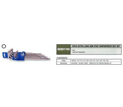 """Комплект угловых ключей JONNESWAY """"TORX"""" с центрированным штифтом H08S110S"""